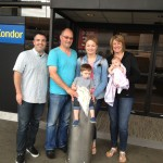 Deskins/Walton family at Sea-Tac headed home to KKCMO!