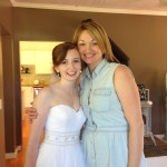 Lisa and Jennifer before Lisa's big day!