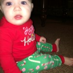 Anna Claire in her Christmas Jammies!