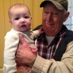 Anna with her Great Grandpa!