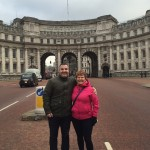 With my mom at an amazing square in London