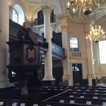 Preaching from a really old pulpit
