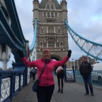 My mom on the London bridge