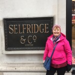 At the famous Selfridge department store