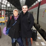 My mom and I on our to Amsterdam