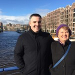 My mom and I in Amsterdam